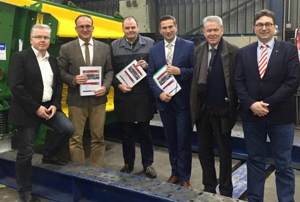 Übergabe der KMU Roadmap an Staatsminister Dulig in Wilsdruff