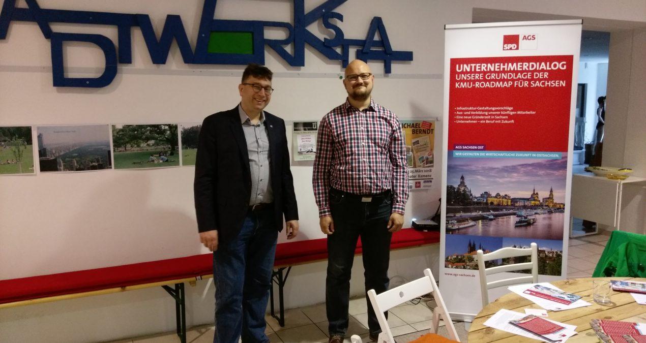 Unternehmerstammtisch in der Stadtwerkstatt in Kamenz
